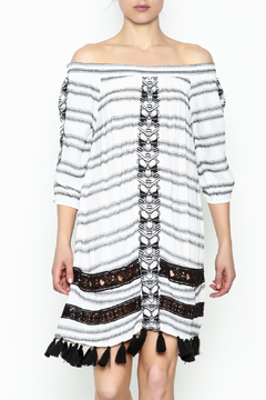 Muche et Muchette Striped Embroidered Dress - Product List Image