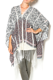 Muche et Muchette Button Shawl With Fringe - Front cropped