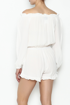 Muche et Muchette White Solid Romper - Alternate List Image