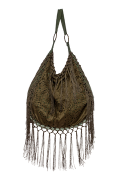 Shoptiques Product: Fringe Cutout Hobo Bag