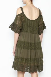 Muche et Muchette Lace Dress Army Green - Back cropped