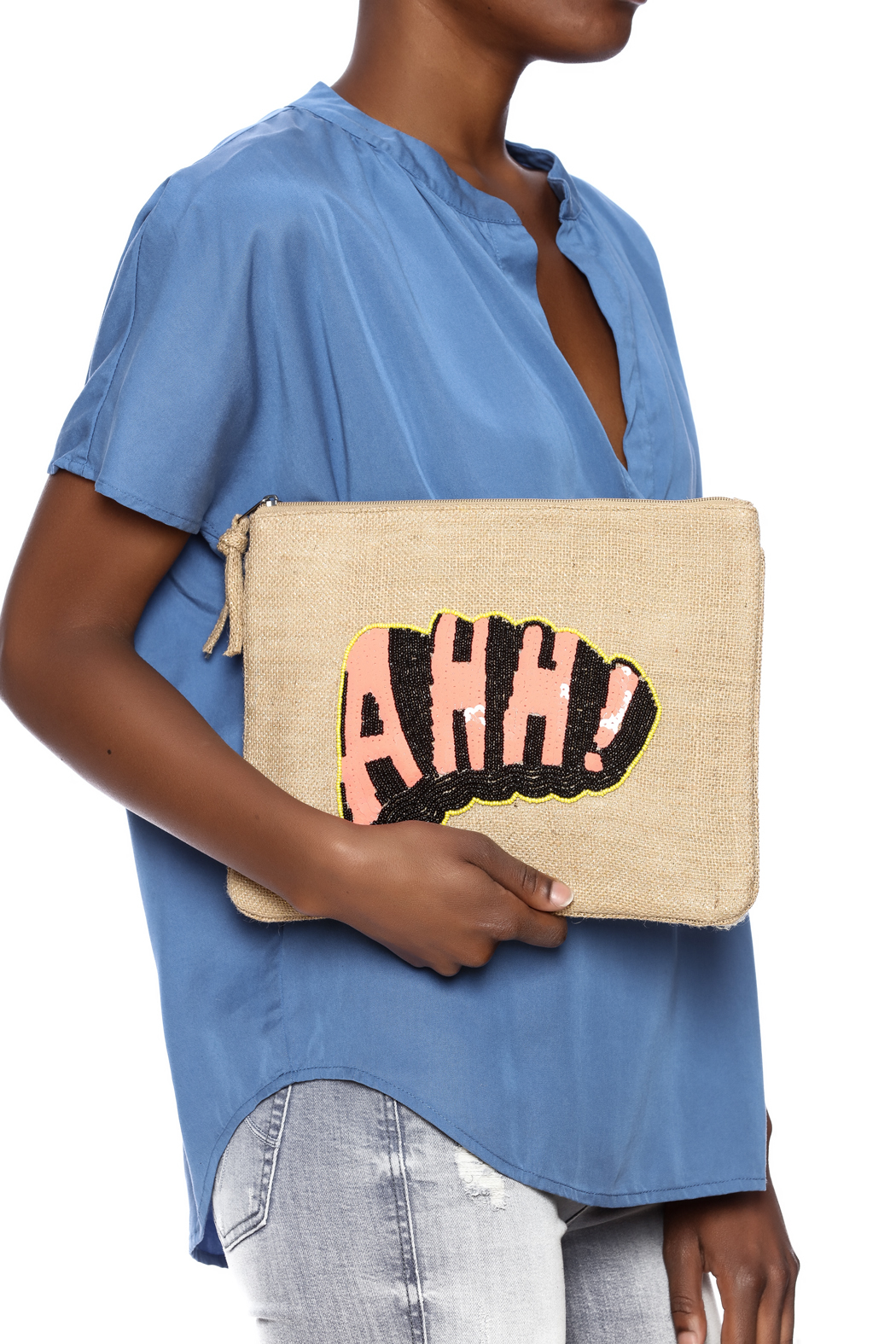 Muche et Muchette Novelty Zip Clutch - Back Cropped Image