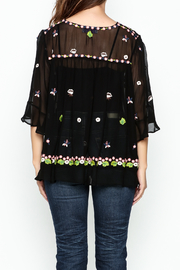Muche et Muchette Sheer Flower Embroidered Top - Back cropped