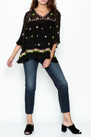 Muche et Muchette Sheer Flower Embroidered Top - Side cropped