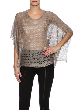 Shoptiques Product: Taupe Pointelle Top