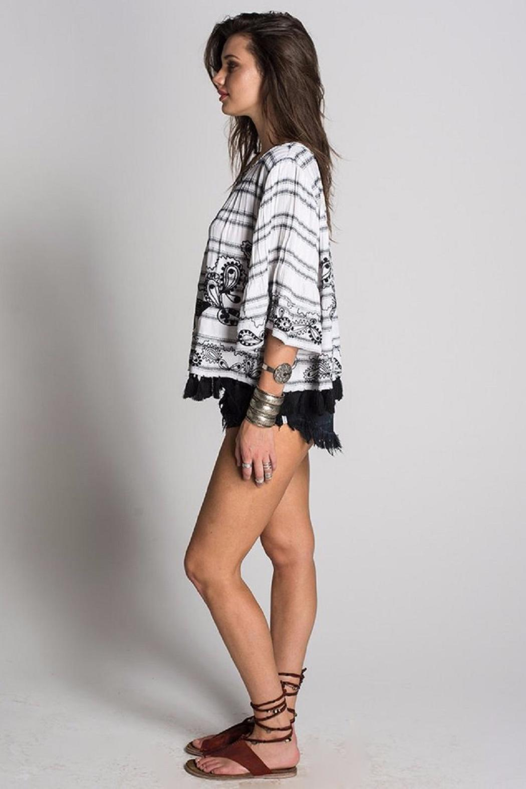 Muche et Muchette Adam Embroidered Poncho - Side Cropped Image
