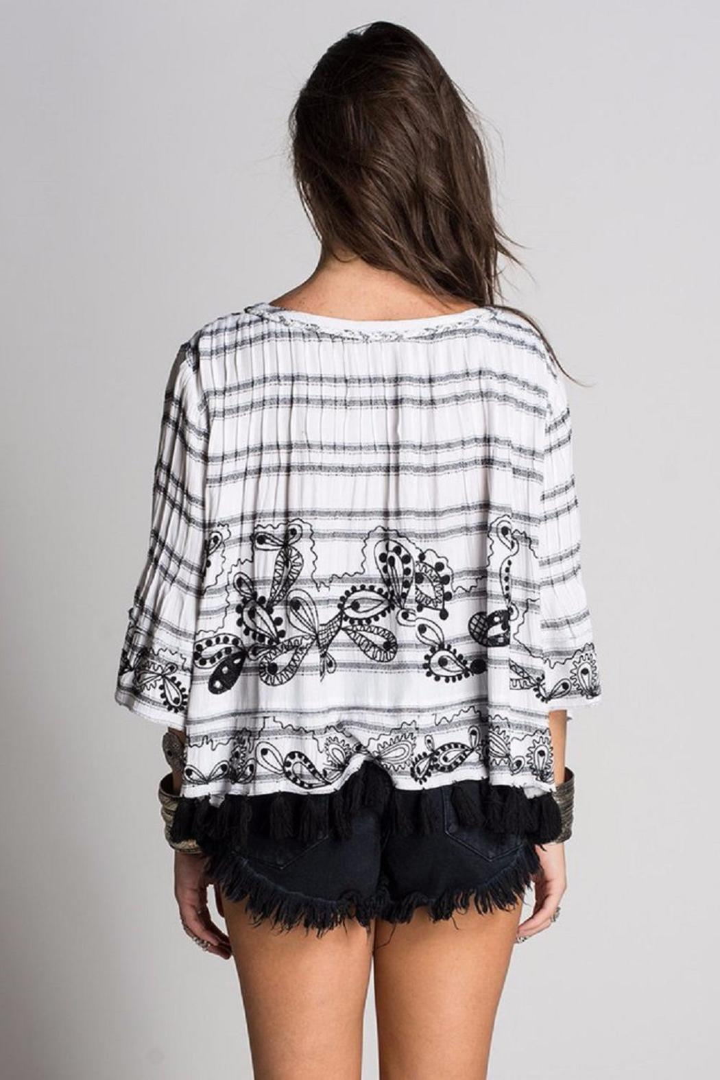 Muche et Muchette Adam Embroidered Poncho - Front Full Image