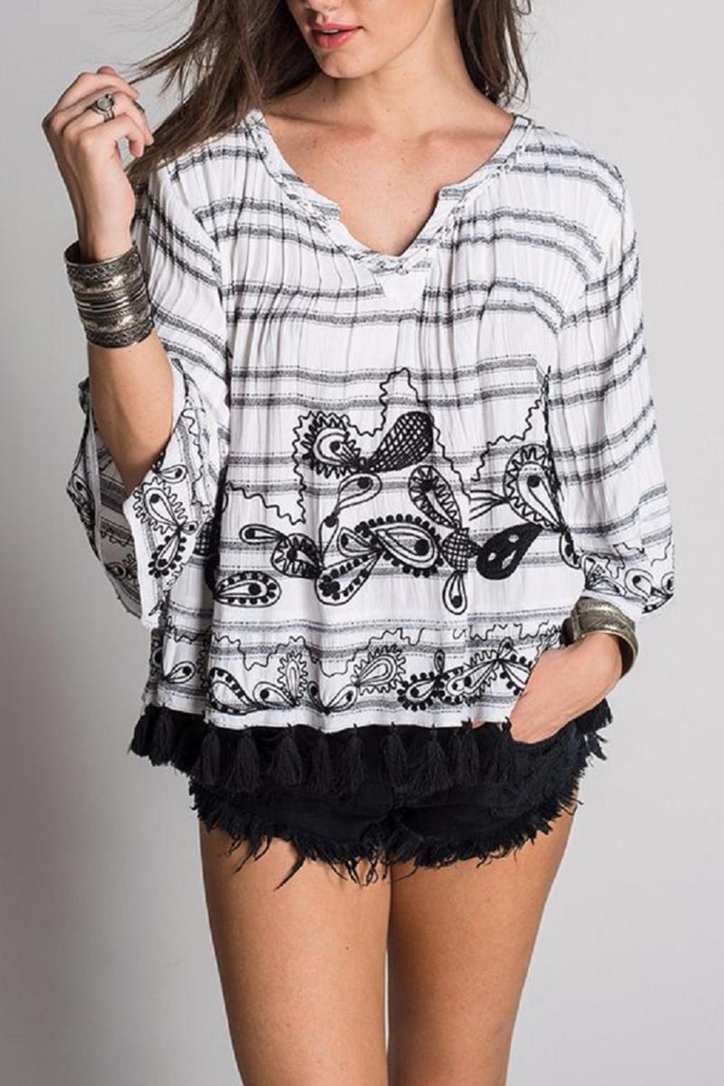 Muche et Muchette Adam Embroidered Poncho - Front Cropped Image