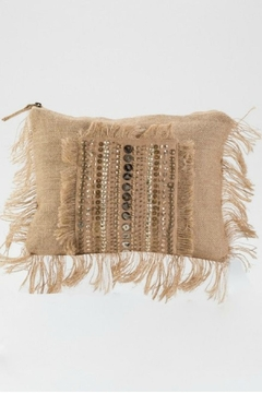 Muche et Muchette Beaded Brown Clutch - Product List Image