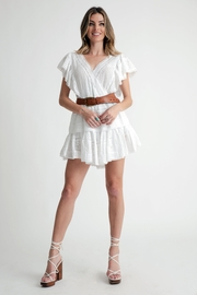Muche et Muchette Coquette Ruffled Sleeves Dress - Front cropped