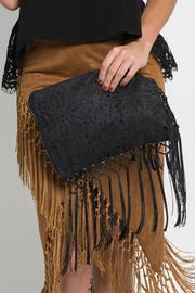 Muche et Muchette Cut-Out Fringe Clutch - Product Mini Image