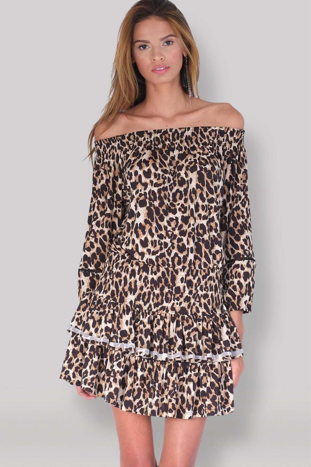 Muche et Muchette Ellyn Dress - Leopard - Main Image