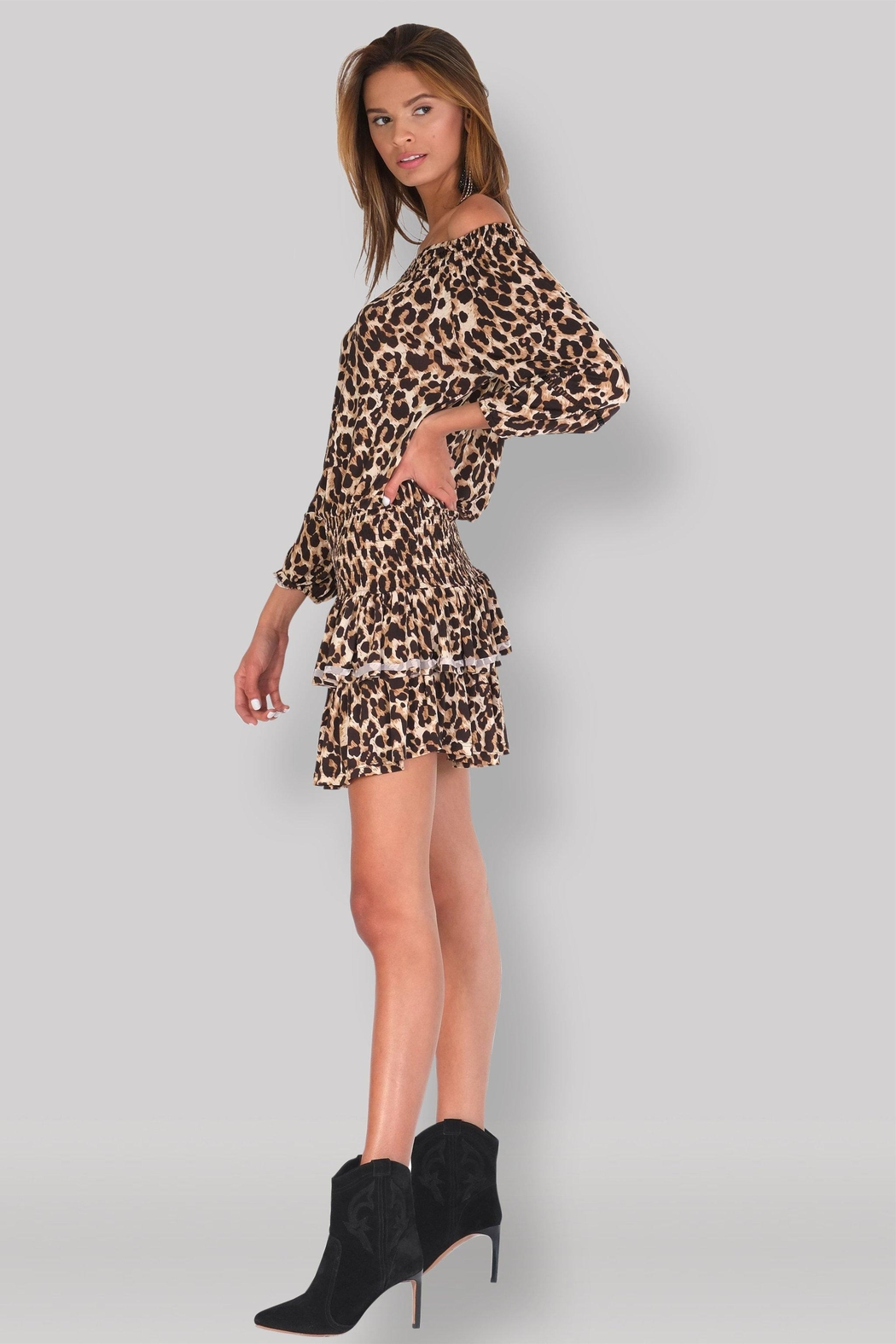 Muche et Muchette Ellyn Dress - Leopard - Front Full Image