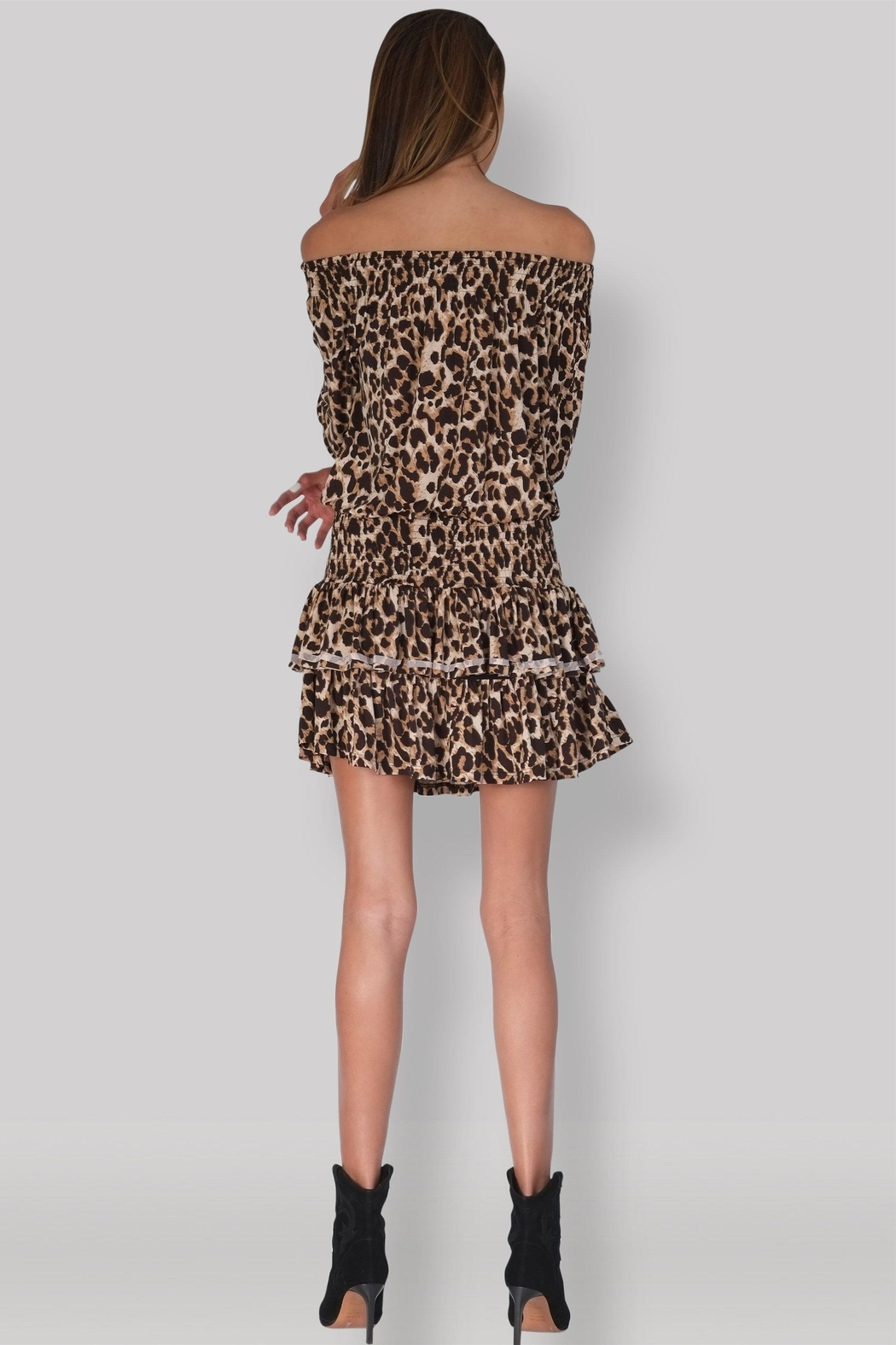Muche et Muchette Ellyn Dress - Leopard - Side Cropped Image
