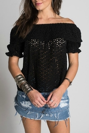 Muche et Muchette Eyelet Peasant Top - Product Mini Image