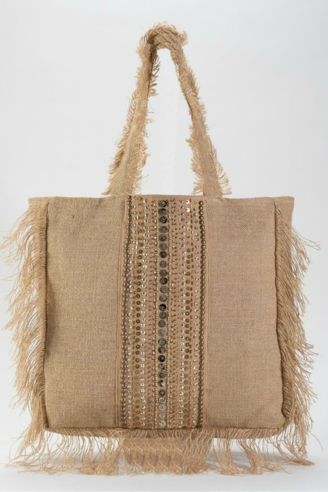 Muche et Muchette Frayed Tote - Front Cropped Image