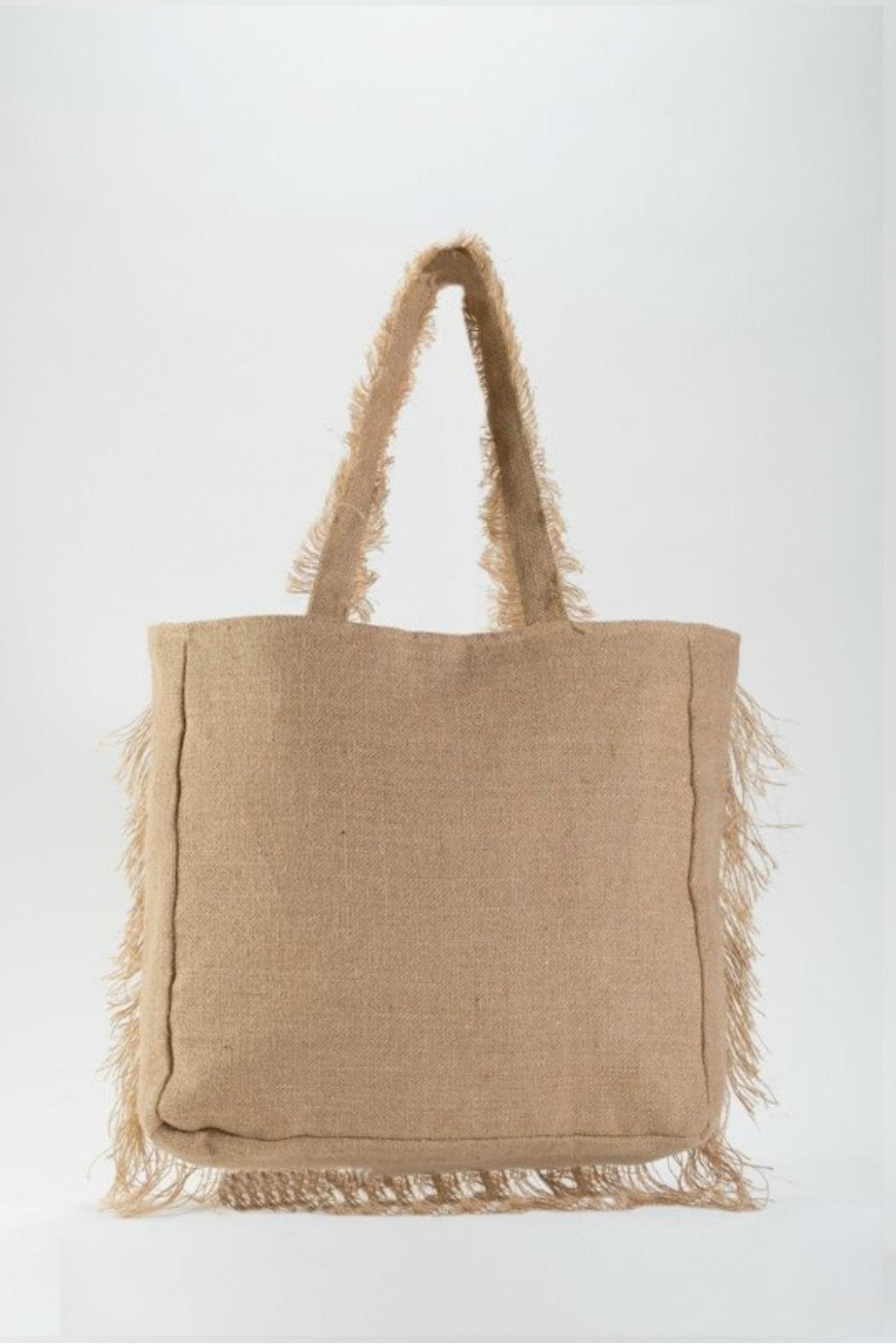 Muche et Muchette Frayed Tote - Front Full Image