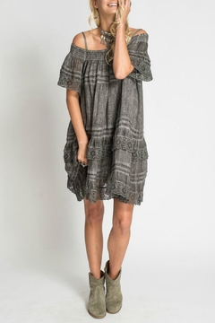 Muche et Muchette Grey Ruffle Dress - Product List Image