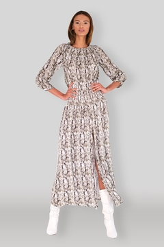 Muche et Muchette Snake Maxi Dress - Product List Image