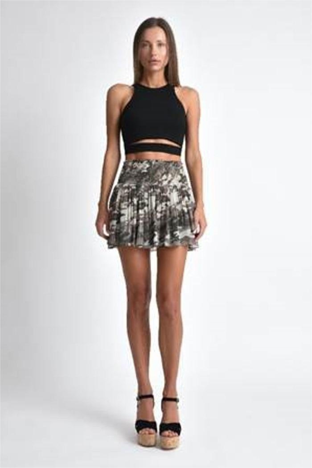 Muche et Muchette Texas Lurex Smocked Mini Skirt - Main Image