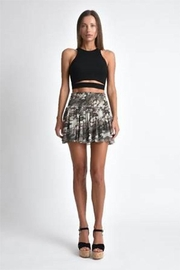 Muche et Muchette Texas Lurex Smocked Mini Skirt - Front cropped