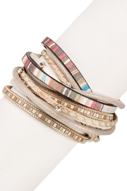 Saachi Mucho Gusto Leather Wrap Bracelet - Product Mini Image