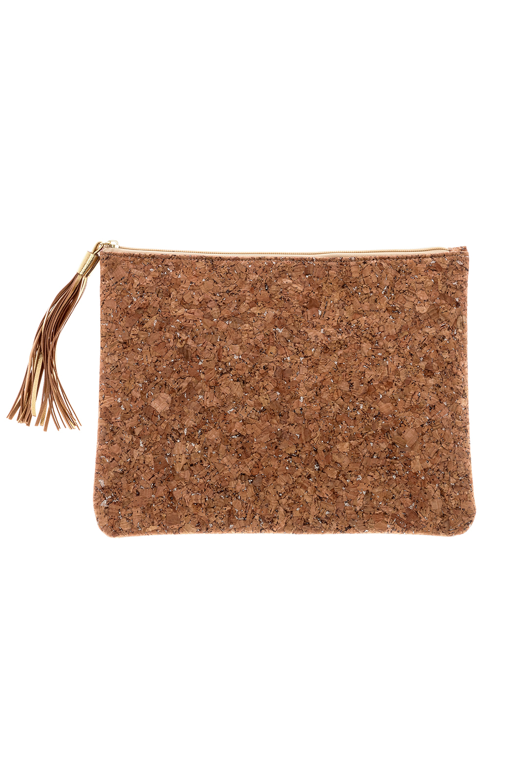 Mud Pie Cork Clutch   Front Cropped Image