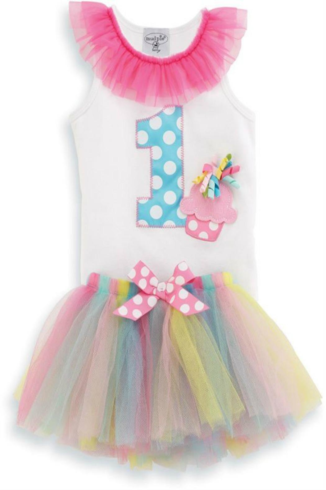 Mud Pie 1st Birthday Tutu - Front Cropped Image
