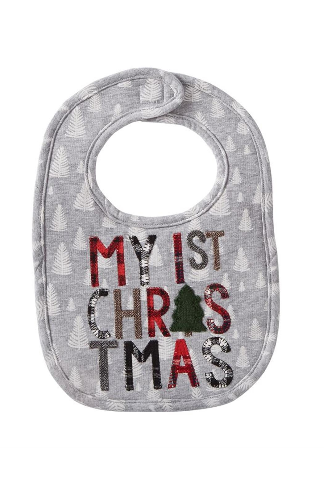Mud Pie 1st Christmas Bib - Front Cropped Image
