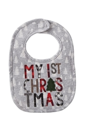 Mud Pie 1st Christmas Bib - Front cropped
