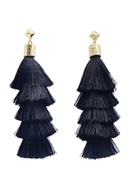 Mud Pie 2-Tiered Tassel Earrings - Product Mini Image