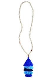 Mud Pie 3-Tiered Tassel Necklace - Product Mini Image