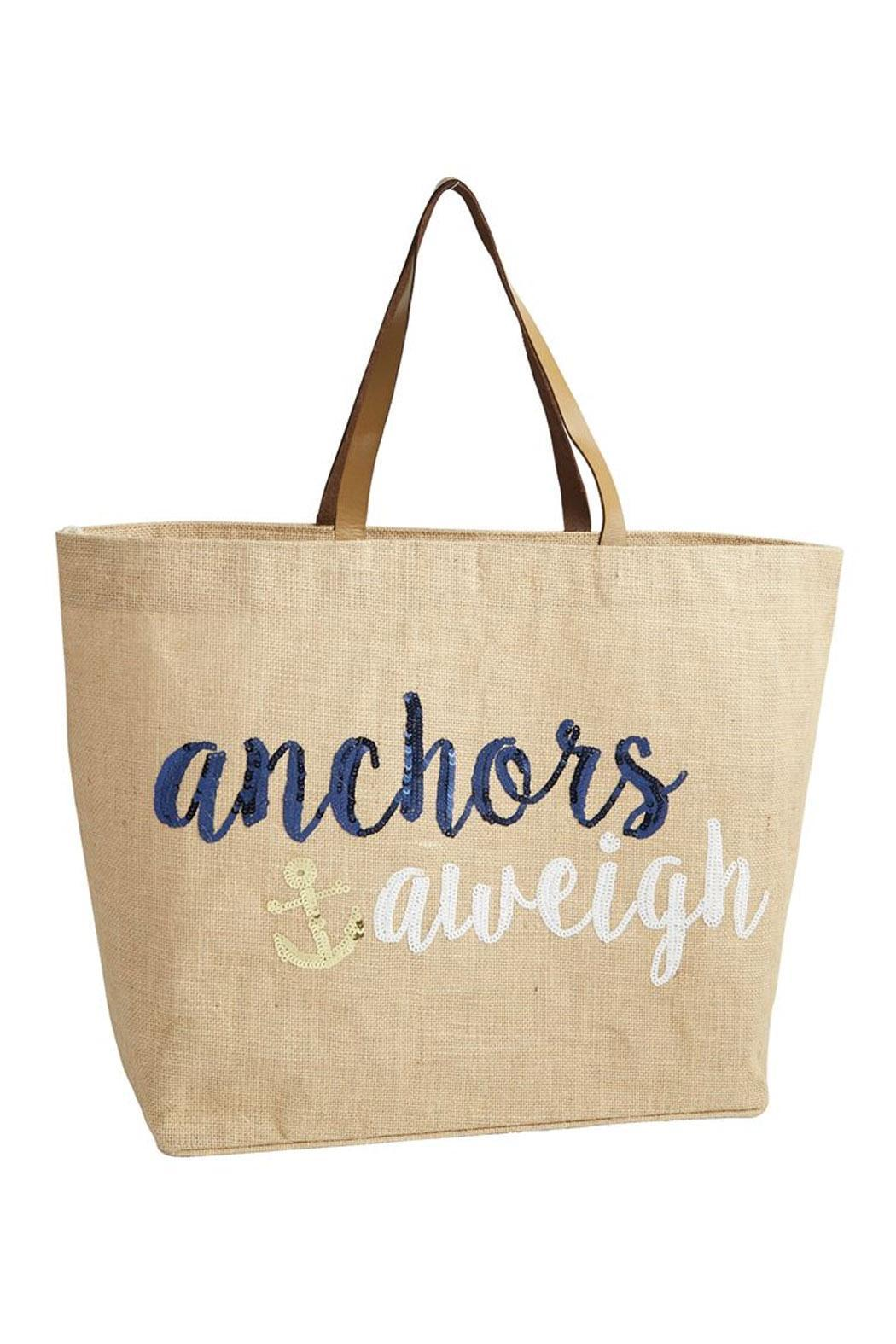 Mud Pie Achors Away Tote - Front Cropped Image