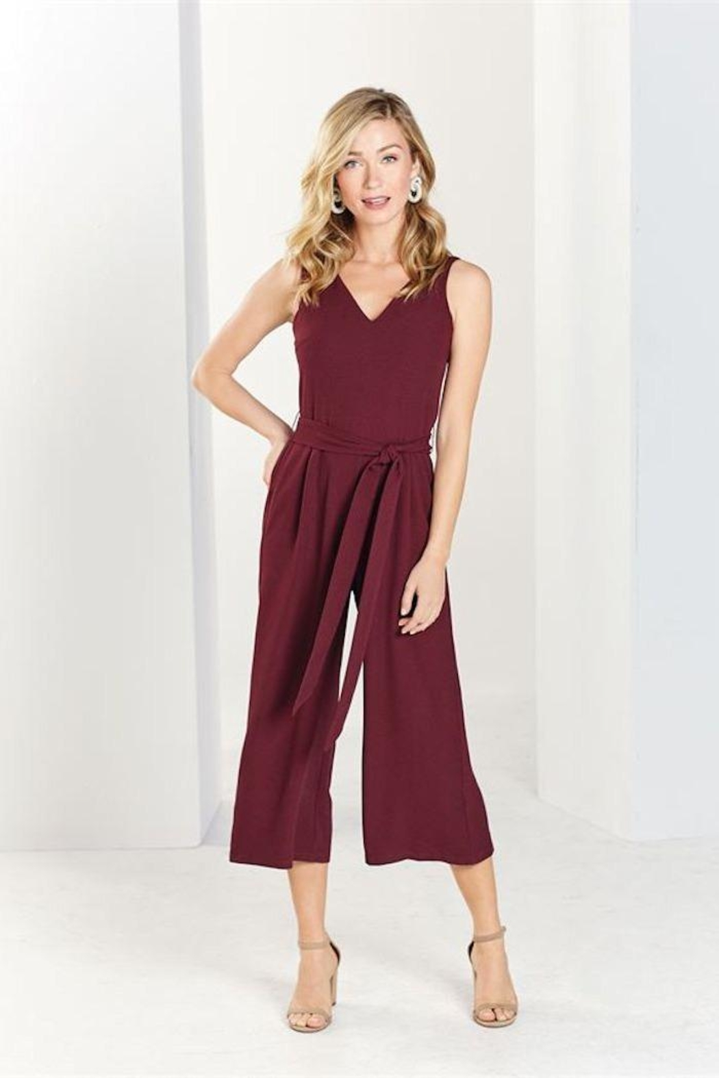 Mud Pie Adelynn Jumpsuit Pinot - Front Full Image