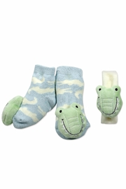 Mud Pie Alligator Sock/Wrist Set - Product Mini Image