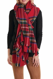 Mud Pie Ava Tartan Scarf - Product Mini Image