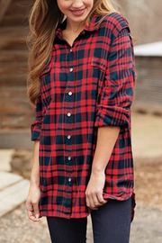 Mud Pie Baelyn Plaid Shirt - Front cropped