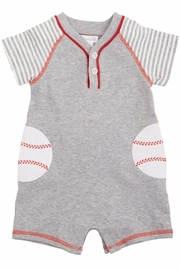 Mud Pie Baseball Romper - Product Mini Image