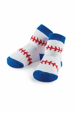 Mud Pie Baseball Print Socks - Alternate List Image
