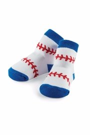 Mud Pie Baseball Print Socks - Front cropped