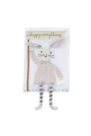 Mud Pie Beige Seersucker Bunny - Product Mini Image
