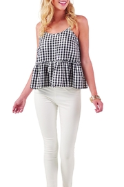Mud Pie Belair Gingham Peplum - Product Mini Image