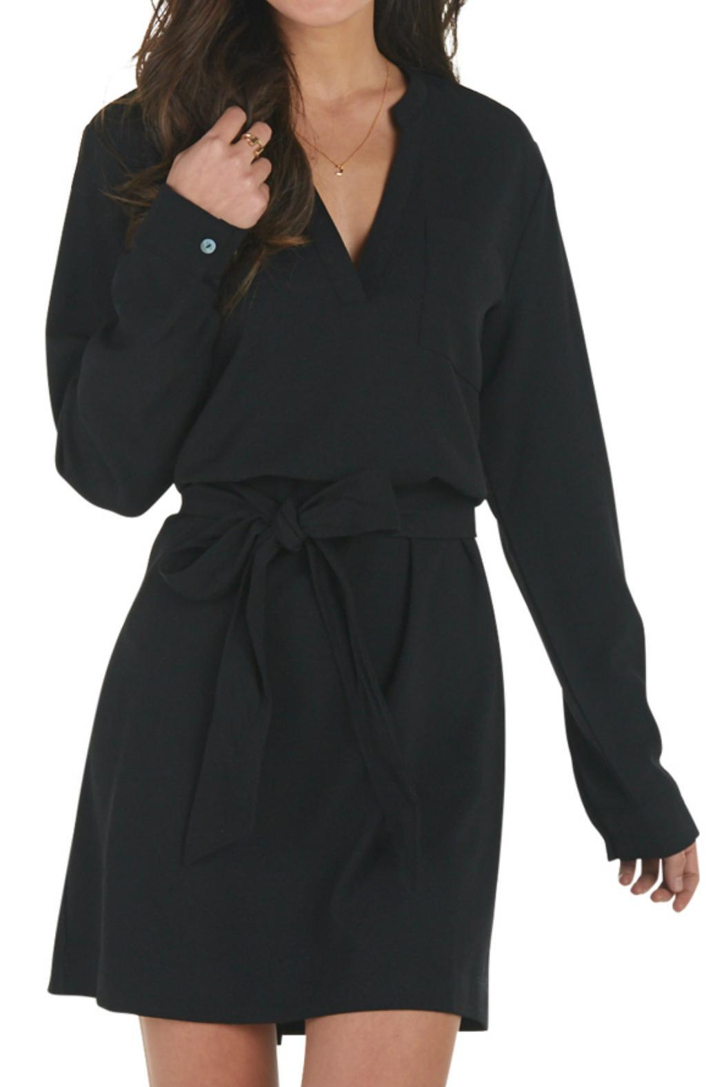 Mud Pie Belted Shirt Dress - Front Cropped Image