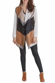 Mud Pie Berkeley Blanket Vest - Front cropped