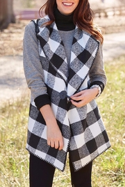 Mud Pie Berkley Blanket Vest - Front cropped