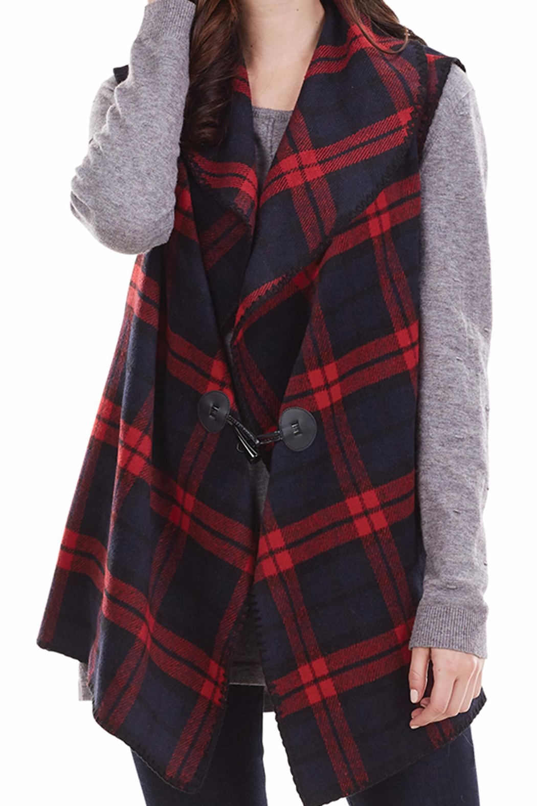 Mud Pie Berkley Blanket Vest - Side Cropped Image