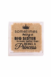 Mud Pie Big Sister Block - Product Mini Image