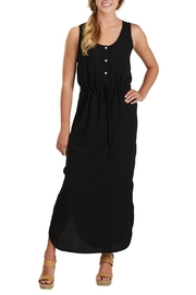 Mud Pie Black Crepe Maxi Dress - Product Mini Image