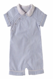 Mud Pie Blue Seersucker Shortall - Product Mini Image