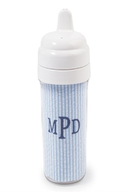Mud Pie Blue Seersucker Sippy-Cup - Product Mini Image